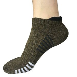 Lot 3-12Pair Mens Low Cut Ankle Breathable Cotton Cushion Athletic Running Socks