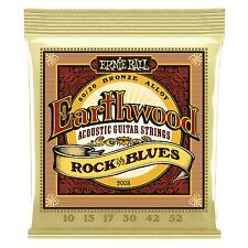 Ernie Ball Earthwood Bronze Rock �€™n�€™ BluesAcoustic Guitar Strings - Gauge 10-52