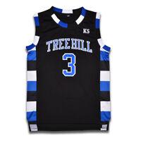 Lucas Scott #3 One Tree Hill Ravens Movie Basketball Jersey All Sewn Black