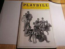 Playbill Program 10 Naked Men 1997 Actors Playhouse Anthony Albanese