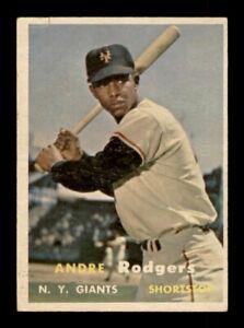 1957 Topps Set Break # 377 Andre Rodgers VG-EX Wrinkle *OBGcards*