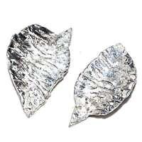 JEAN PIERRE BIBARD Boucles d'oreilles plaqué argent moderniste bijou earring