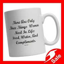 There Are Only Three Things Women Need In Life  11oz Ceramic Mug - Free Shipping