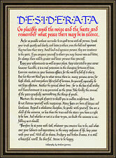 """""""DESIDERATA"""" Calligraphy Print of famous poem by Max Ehrmann"""