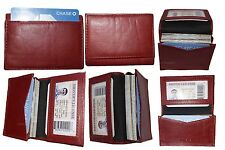 Lot of 6 New Leather Business card, Credit Card Holder; Fifty Card Case, ID