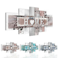 5pcs Home Heart Canvas Print Painting Wall Art Abstract  For Home Decor No Frame