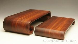 """8""""-9.5"""" Set of 2 Rectangle Take Out One Piece Wood Bending Wooden Stand Base"""