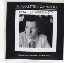 (DL725) Ned Collette & Wirewalker, How To Change A City - 2012 DJ CD
