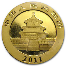 2011 1 oz Gold Chinese Panda Coin - Sealed in Plastic - SKU #59976