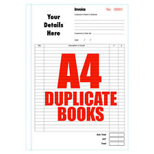Invoice Books duplicate A4 Numbered 5 Books