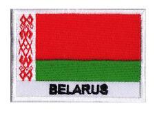 Patch écusson patche drapeau BIELORUSSIE Belarus 70 x 45 mm brodé à coudre