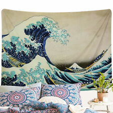 US SHIP Tapestry Wall Hanging The Great Wave Off Kanagawa Pattern Home Decor