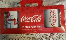 2018 Edition Coca-Cola 2 Mug Gift Set With Mini Pretzels