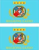 2 x Autocollant sticker voiture moto vinyl drapeau italie italien latium