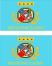 2 x Autocollant sticker voiture moto vinyl macbook drapeau italie italien latium
