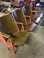 Vintage Stadium Seating Theater Auditorium - 4 Chairs