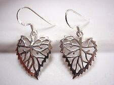 Leaf Filigree Earrings 925 Sterling Silver Dangle Corona Sun Jewelry Tree