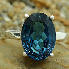 London Blue Topaz 925 Sterling Silver Handmade Ring Jewelry s.9.5 SDR81508