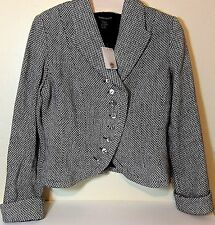 NWT BOSTON PROPER Textured Woven Lined Tweed Wool Multi Button Jacket