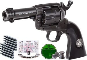 Umarex Legends Ace-in-The-Hole CO2 Pellet Revolver, Weathered Kit air Pistol