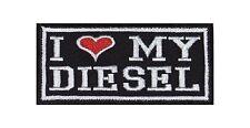 I Love my Diesel Biker Heavy Rocker Patch Aufnäher Kutte Motorrad Badge Stick