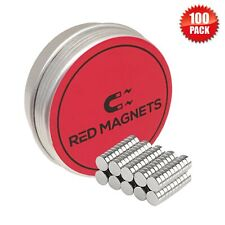 Strong Small Magnets Set & Storage Tin 5mm x 2 Neodymium Disc Rare Earth Fridge