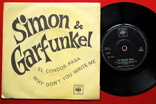 "SIMON & GARFUNKEL EL CONDOR PASA 1970 RARE INDIAN 7"" PS"