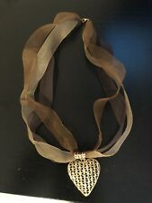 """New Heart Pendant Silver Gold Plated Necklace 16"""""""