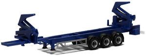 HO Scale Trucks - 480422 - HAMMAR CONTAINER SIDE LOADER SEMI-TRAILER, BLUE