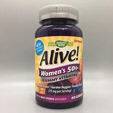 Nature's Way Alive Women's 50+ Gummy Vitamins Fruit Flavor 60 ct Exp 12/20+