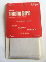 """Vtg Clinton Mending Fabric 4 Pieces In Off White, Pink, Blue 2-3/4x 4"""""""
