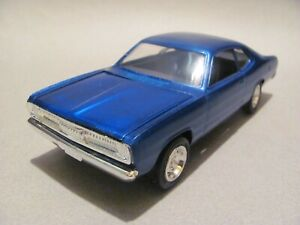 Original MPC 1972 Plymouth Duster Built Kit - True Blue Poly, Excellent Cond.!