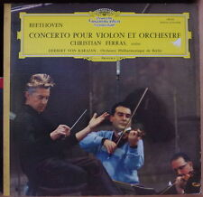 BEETHOVEN/VON KARAJAN CHRISTIAN FERRAS VIOLIN GATEFOLD COVER  FRENCH LP