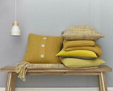 Chunky Knit Ochre Filled Cushions 45cm x 45cm  By Catherine Lansfield