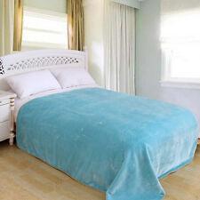 """ShiGo Heavy Weight Super Soft Luxury Twin size Blanket 60""""X80""""Solid Aqua Blue"""