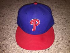 Philadelphia Phillies New Era 59Fifty Alternate Red Bill Brim Fitted Hat Size 7