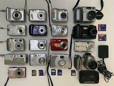Huge Digital Camera Lot! 17 cameras + 7 memory cards + 1 dock/charger