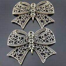 8pcs Antiqued Bronze Alloy Bow Charms Bracelet Pendant Jewelry Connectors 31675