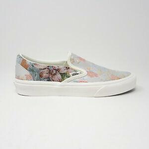 NEW Vans Classic Slip-On Floral Print Tapestry Skate Shoe Size Mens 8, Women 9.5
