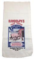 Bagtiques Randolph's Piglet Starter Blue Ribbon Feed Cloth Sack, C.J. Hunt, Pigs