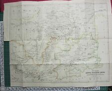 1886 datato antico MAP ~ Cina sud occidentale viaggio HOSIE TA-Li fu Pao-Ning-Fu