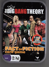 """BIG BANG THEORY """"FACT or FICTION CARD GAME IN A TIN, 180 QUESTIONS, 2-8 PLAYERS"""
