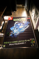 LUIGI'S MANSION Style B 4x6 ft Shelter Original Video Game Advertising Poster