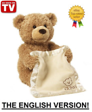 PLAY PEEK A BOO TALKING TEDDY BEAR 33 CM SOFT TOY BY GUND NEW WITH TAGS