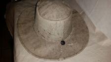 "Western Hat, Leather ( destressed  look), Cowboy, Wranger, , 7 1/2"""