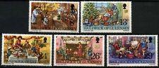 Guernsey 1982 SG#263-7 Christmas MNH Set #D67741
