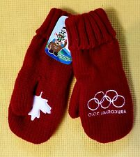 """Vancouver 2010 Olympic Mittens Canada Red Brand New """"with Tags"""" Men's L/G-XL/TG"""