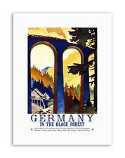 Foresta nera Germania VIADOTTO treno usa pubblicità Vintage Poster in Tela da Viaggio