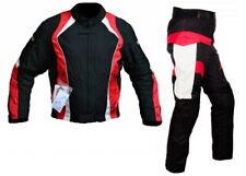 Tuta completo da per moto giacca e pantalone in cordura con protezioni omologate
