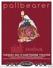 Pallbearer/Solstafir/Mort als 2O14 Portland Concert Tour Poster- Doom Metal Music